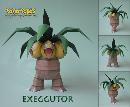 Pokemon Exeggutor Papercraft
