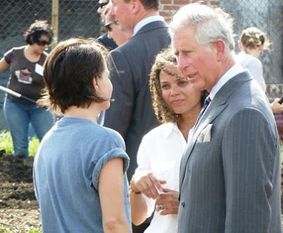Tricia chatting with HRH Prince Charles
