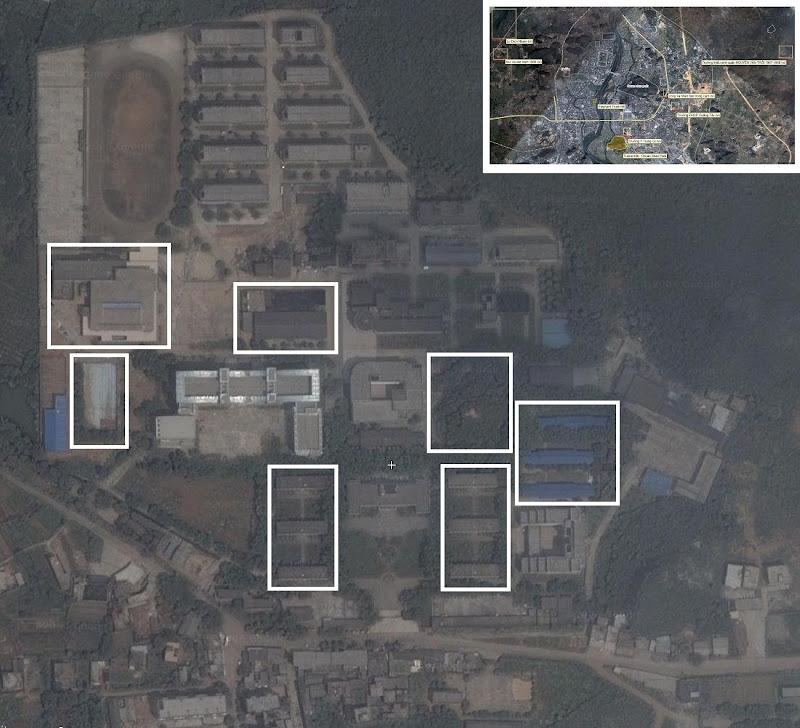 Bản đồ vệ tinh khu Trường mới ở Phong Khẩu Quế Lâm