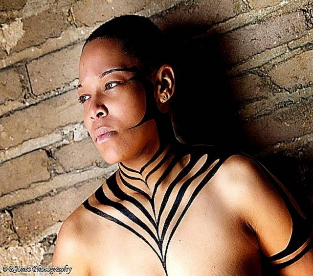Stanley William Moore II artist » body art – black pattern