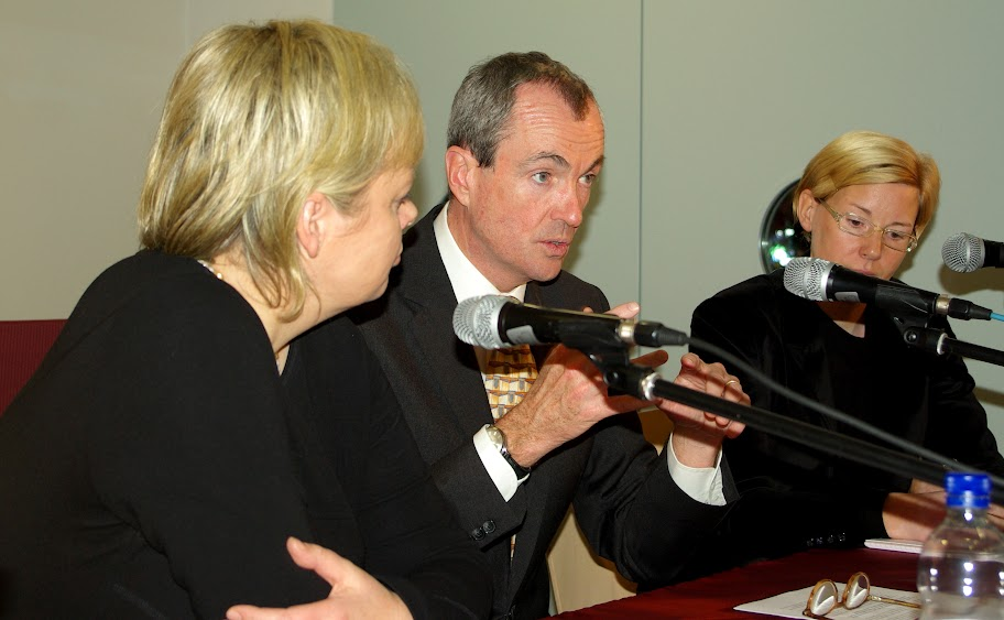 Botschafter Murphy mit Dr. Gesine Lötzsch