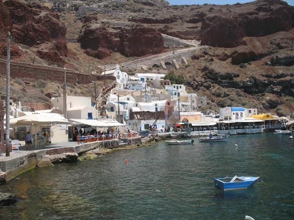 Santorini: puerto de Oia