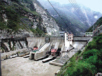 A hydroelectric dam in the northern Pakistan