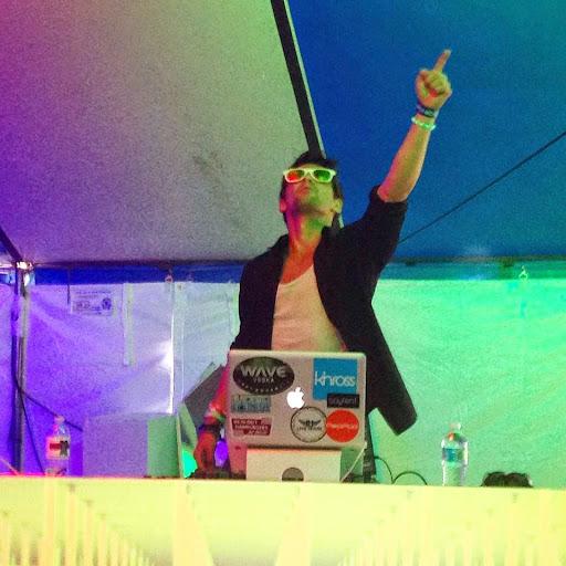 DJing at Mystik. Marc Freccero