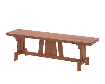Shenzen Bench in Itasca Maple