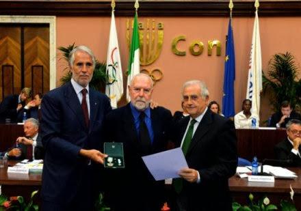 FPI - Il Presidente Brasca insignito dal CONI con la stella d'oro al merito sportivo