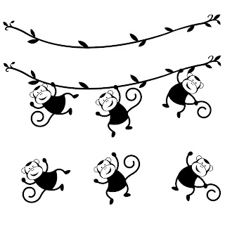Free SVG Monkeys