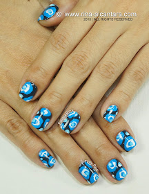 To Be Blue Nail Art Design by Simply Rins