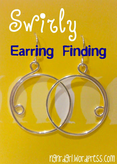 Swirly Earring Finding