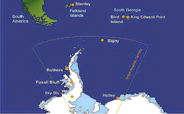 영국의 남극기지 지도