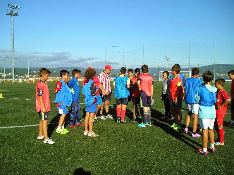 Equipo infantíl en Prados Vellos o día da presentación (18/08/2014)