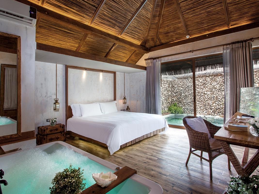 Mẫu phòng ngủ có bể bơi