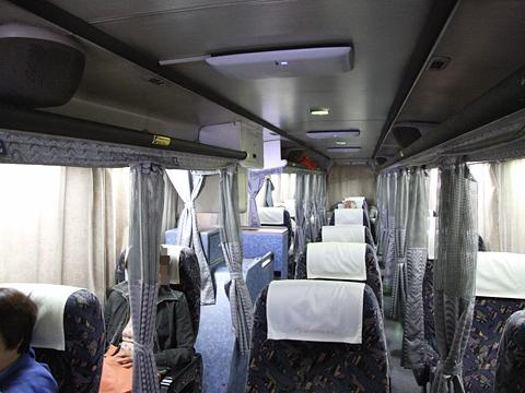 名鉄バス「名古屋~松山線」 車内