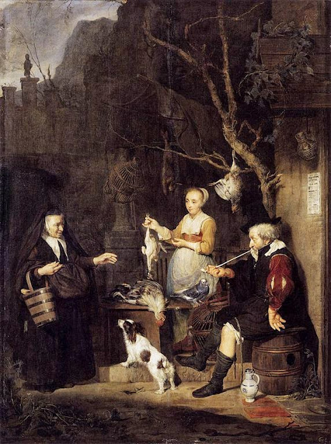 Gabriel Metsu - The Poultry Woman - 1662