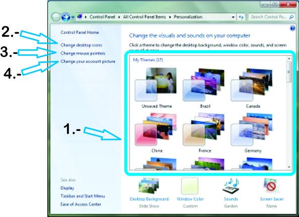 Personalizar la forma en que vemos nuestro escritorio en Windows 7