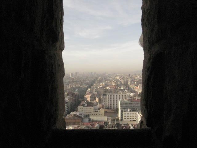 サグラダファミリアから見るバルセロナ市街
