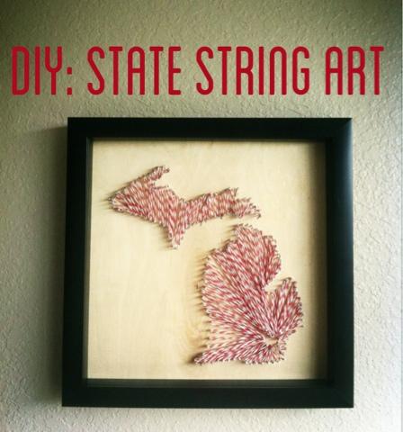 Lisa loves john september 2013 diy michigan string art freerunsca Images