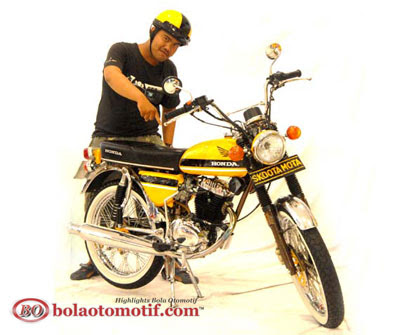 Modifikasi Honda CB 100 Jadul_8