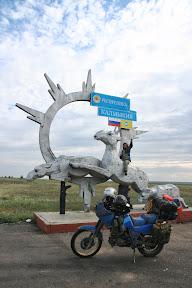 Granica republike Kalmikije, jedine budističke republike u Europi