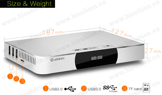 ZIDOO X9 4K Android TV Box Quad Core ZIDOO X9 Nang Cap TV Thuong Thanh TV Thong Minh 11
