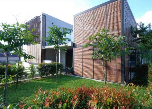 Modern vernacular design modern vernacular wood houses for Home design johor bahru