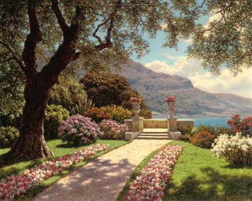Ivan Fedorovich Choultse - A garden with a sea view