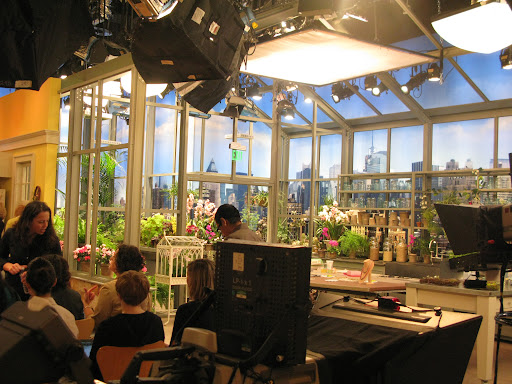 A view of the set greenhouse.