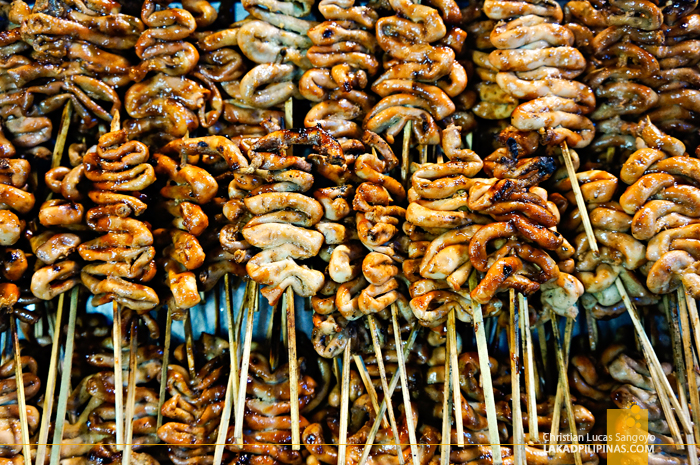 Giga Bite's Chicken Isaw at Foodgasm III in Mercato Centrale