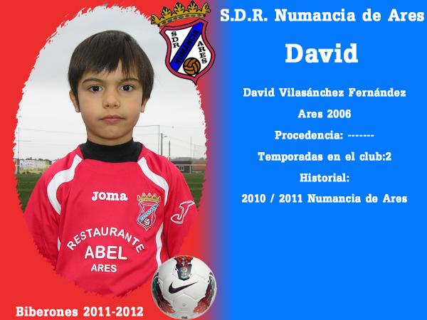 A. D. R. Numancia de Ares. Biberones 2011-2012. David