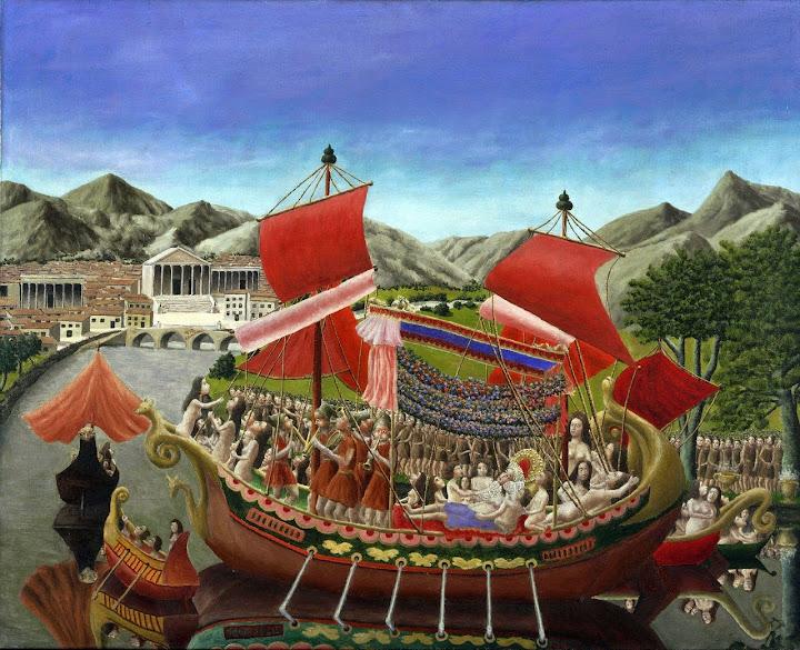 André Bauchant - Cleopatra's Barge