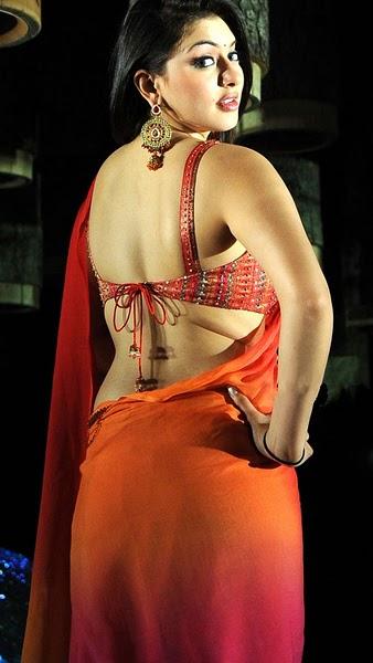 Hot ass saree Hansika Motwani Milky Hot Back Show In Saree Sabwood Com