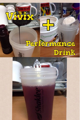 Campuran Vivix Dan Performance Drink