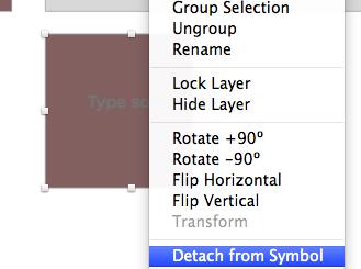 Detach from symbol