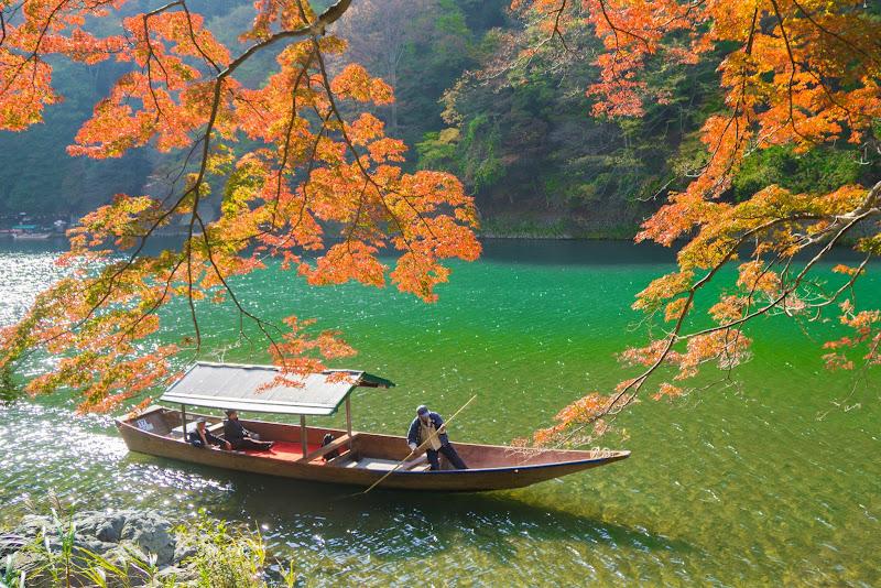 京都 嵐山 紅葉 写真2