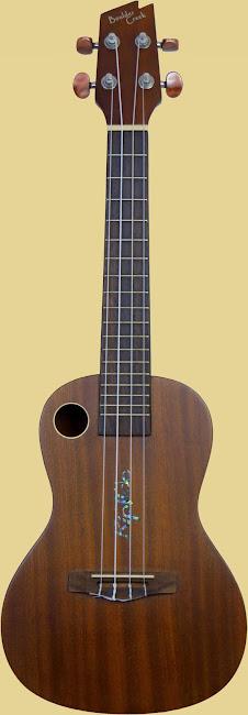 Boulder Creek Riptide Mahogany Acoustic Concert Ukulele original headstock