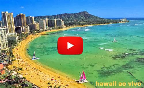 Câmera ao vivo no Hawaii em Waikiki