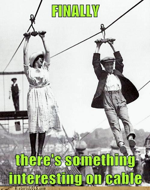 photo of people zip lining...finally something good on cable