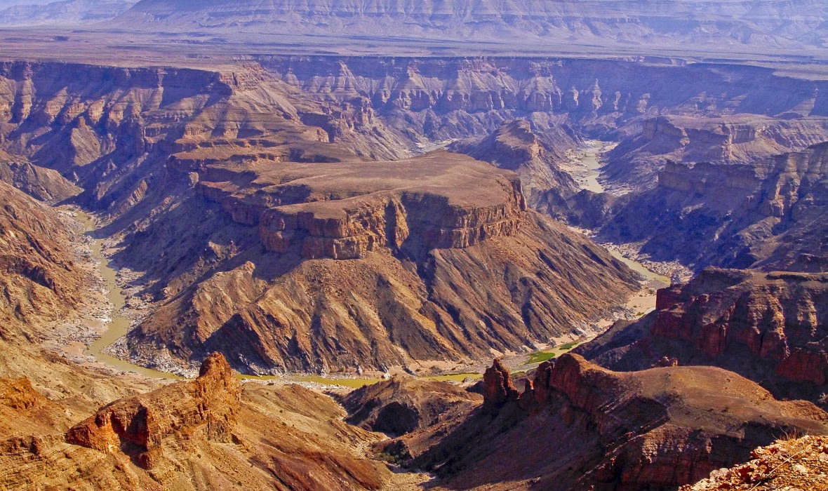 The Fish River Canyon of Namibia is the largest canyon in Africa.