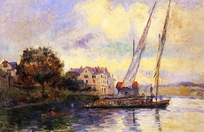 Albert Lebourg - The Banks of Lake Geneva, St. Gingolph