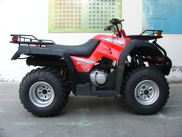 250cc Jianshe JS250ATV-5 Shaft Drive 2WD Farm Quad Bike Red