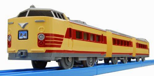 Đồ chơi tàu điện S-24 Series 485 Limited Express Train trong thực tế