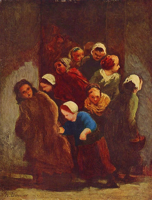 Honoré Daumier - Leaving School
