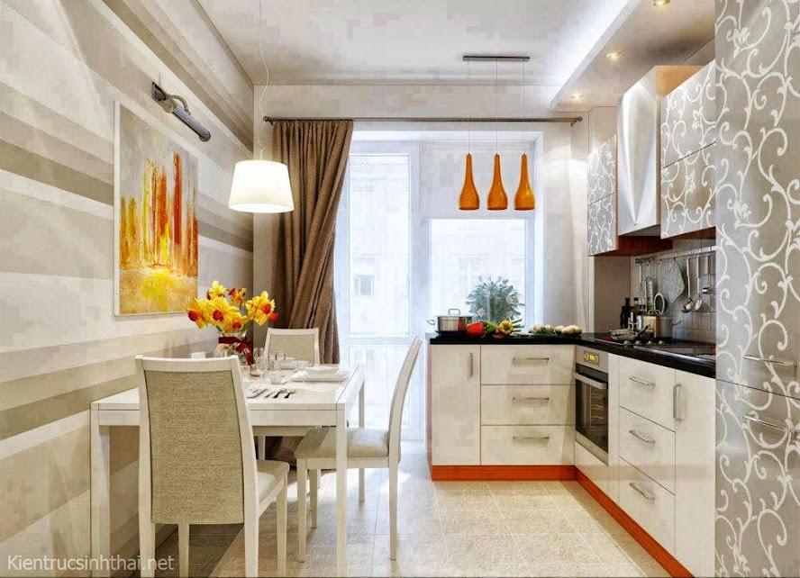 Thiết kế phòng bếp, ăn hiện đại, trẻ trung