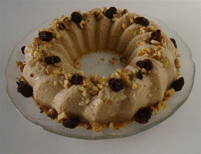 Puddin navideño de manzana en Ananas puddin (flan de piña)