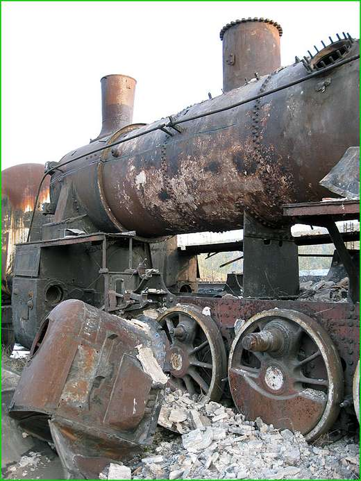 Clip Art And Picture: Abandoned Steam Locomotives From