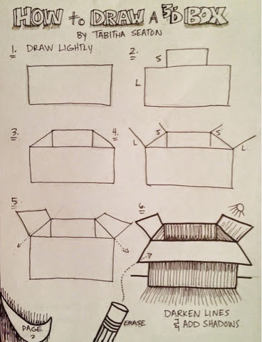 how to draw a timbit box