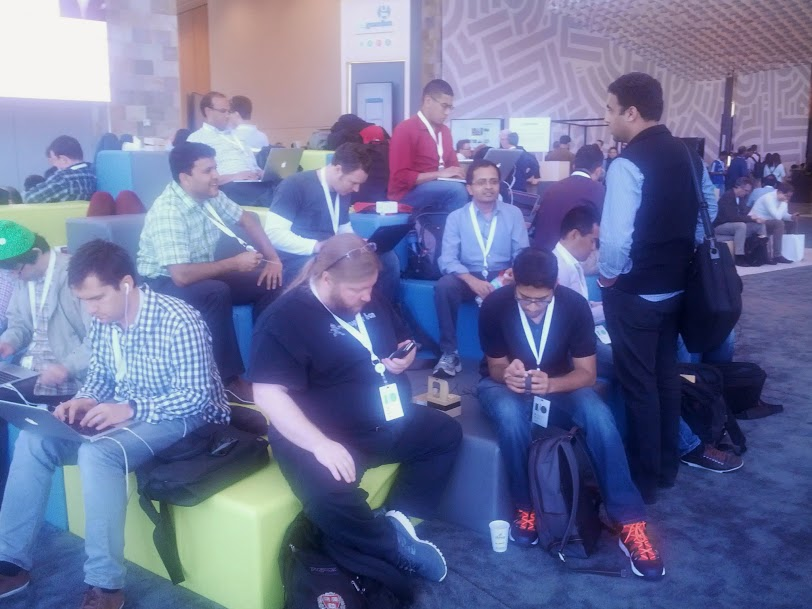 Chilling out at GoogleIO