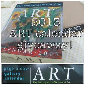 2013 Art Calendar - giveaway!