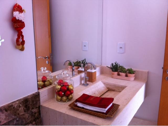decoracao de lavabo para o natal : decoracao de lavabo para o natal: deixar o lavabo no clima de Natal, achei que ficou delicado