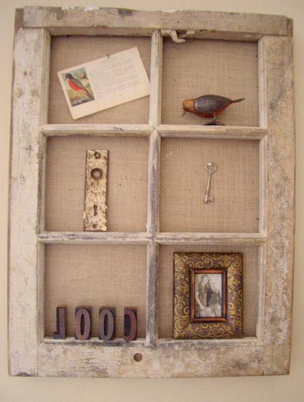 Cool Home Creations Vintage Window Wall Display